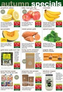 Wray Organic - April Specials 2014
